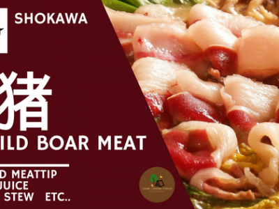 これぞアウトドア料理☆荘川で獲れた猪肉☆限定